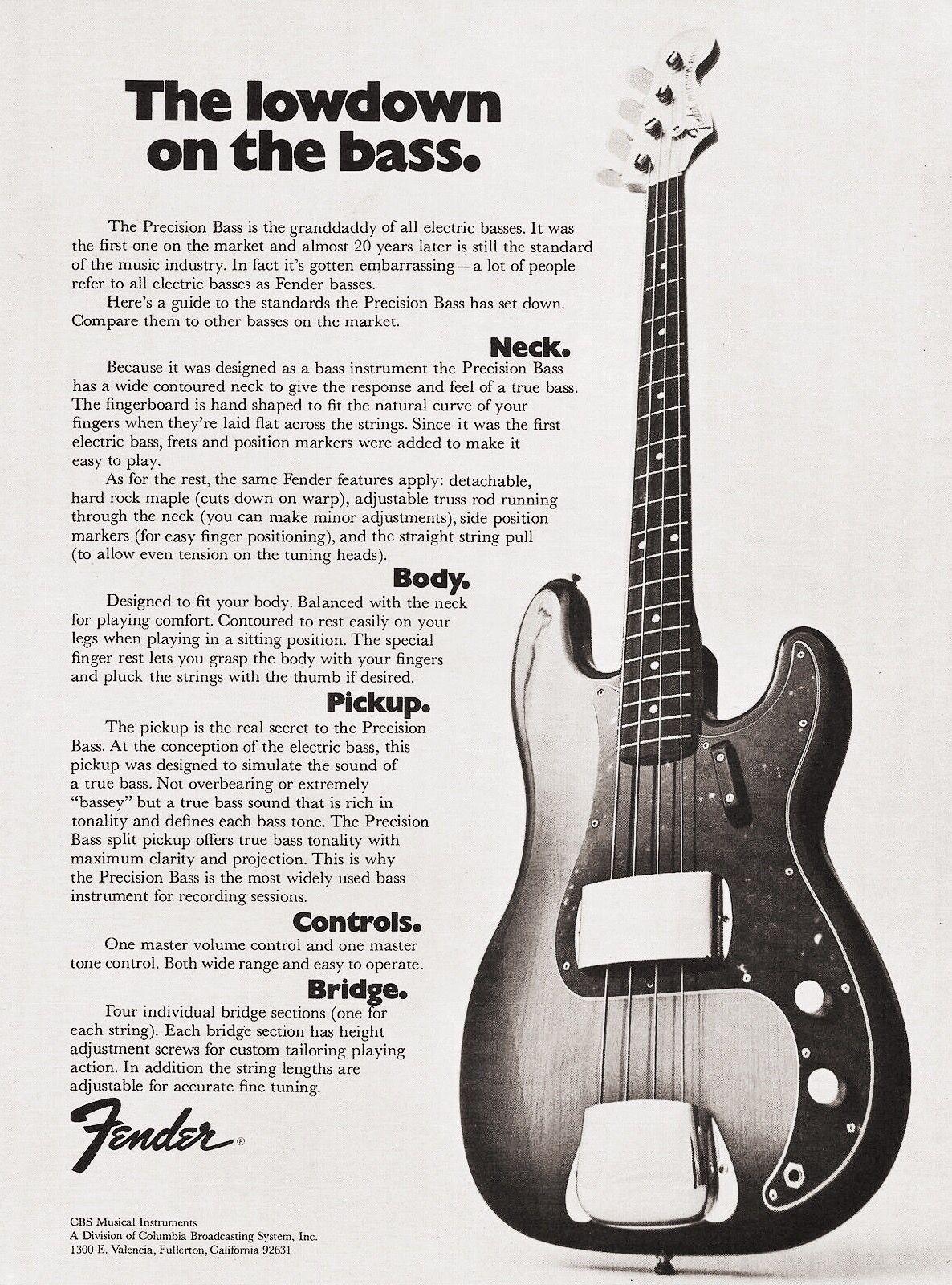 1960 39 s fender precision bass one sheet guitar music artifacts in 2019 bass fender. Black Bedroom Furniture Sets. Home Design Ideas