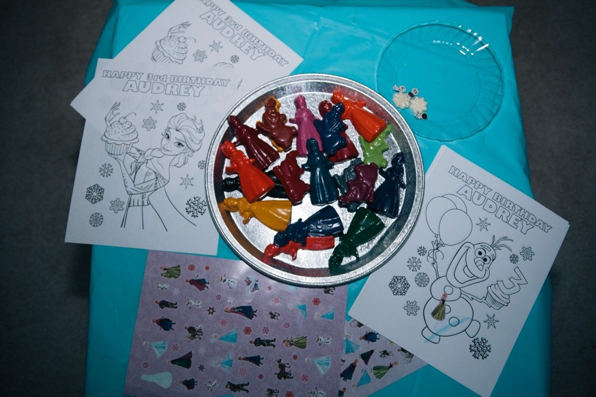 Frozen birthday party coloring pages - Frozen Coloring Pages And Frozen Crayons Frozen Birthday Party Medium