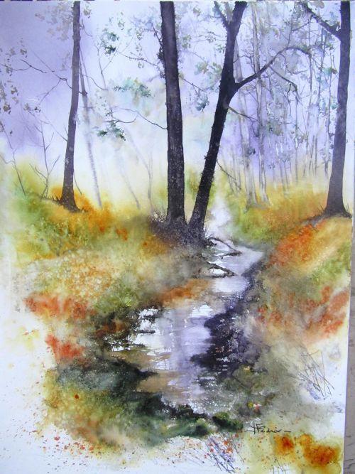 Isabelle Fournier Perdrix For T Couleur Ruisseau Eau Peinture Inspiration Art