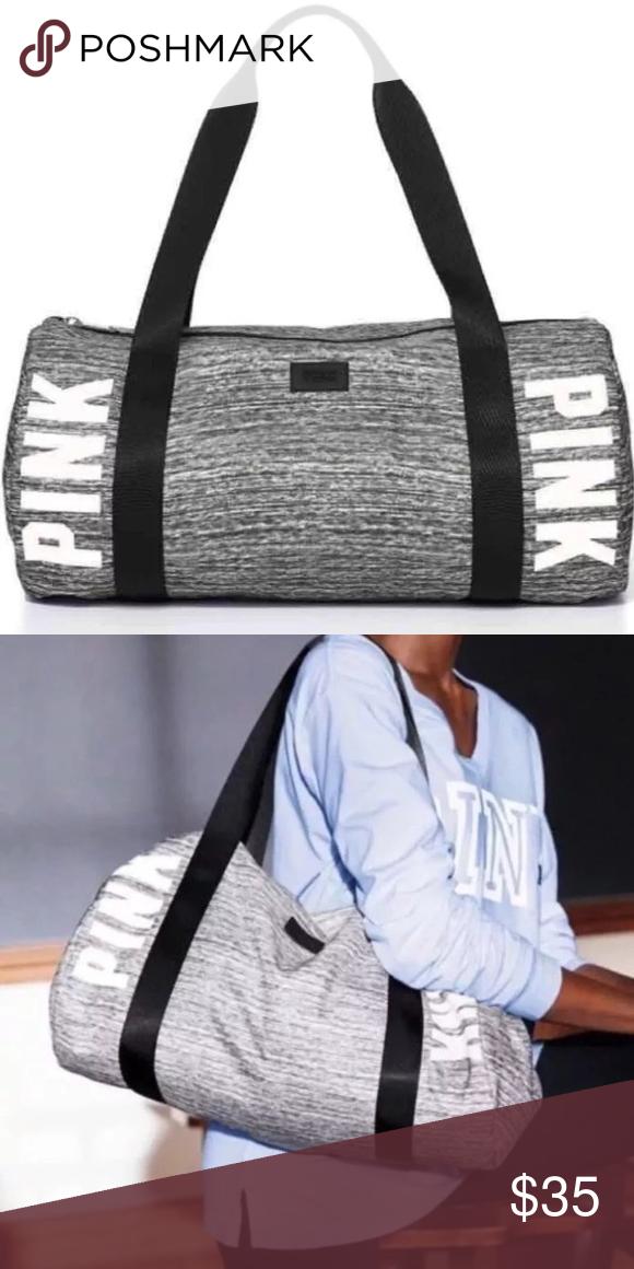 bdf820b0814a New Victoria s Secret pink grey marl duffle bag New in package. Grey marl.  PINK