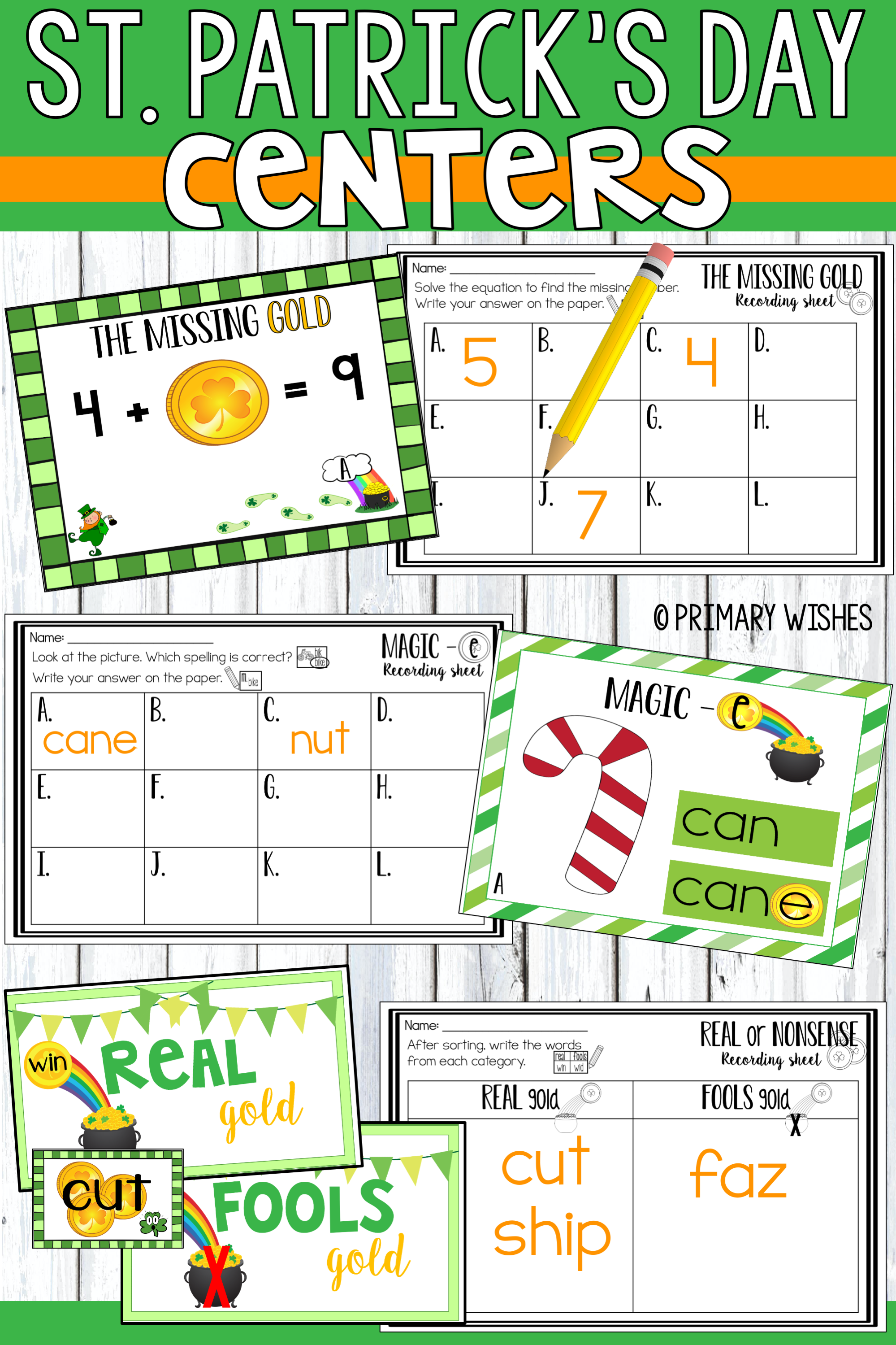 St Patrick S Day Math Amp Literacy Activities In