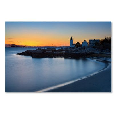 Trademark Art 'Light on the Point' by Michael Blanchette Photographic Print on Wrapped Canvas Size: