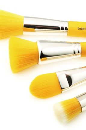 "chasingrainbowsforever "" makeup brushes ""  yellow"