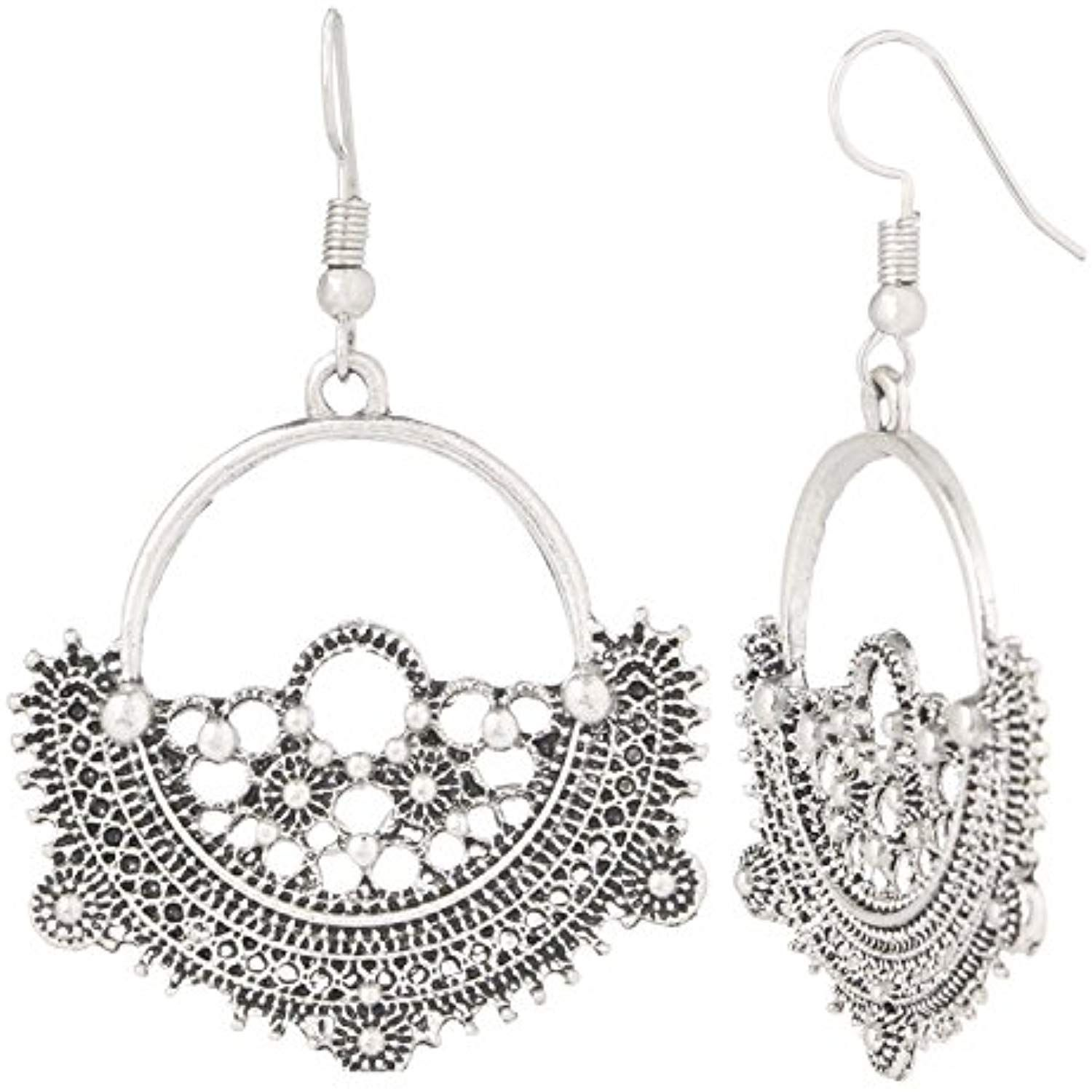 f8ac0e947 Indian Vintage Retro Ethnic Dangle Gypsy Oxidized Silver Tone Boho Chandbali  Earrings for Girls and Women Love Gift *** You can get additional details  at ...