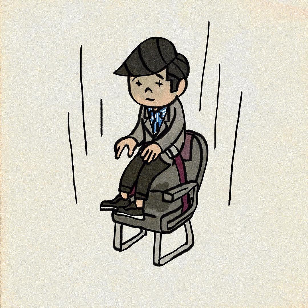 シートベルトがゆるゆる イラスト illustration art humanoid sketch
