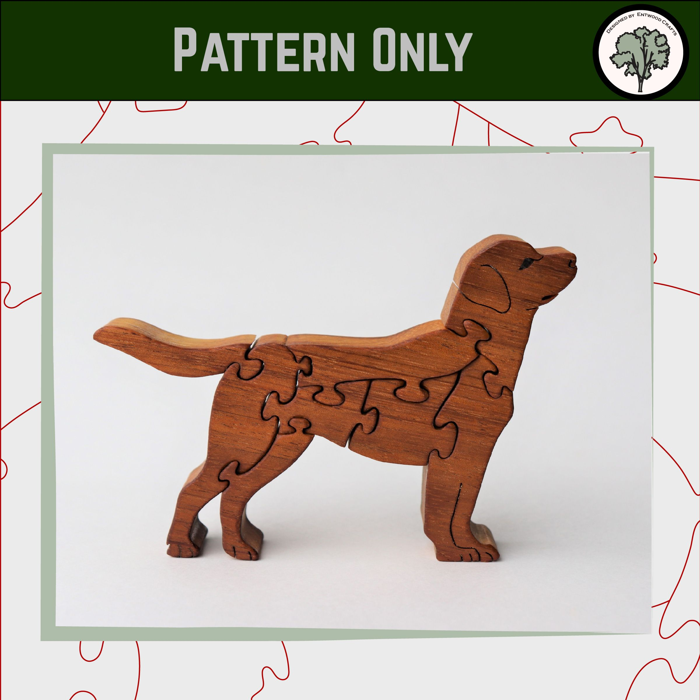 wooden Labrador dog puzzle