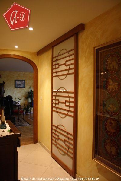 une porte coulissante japonaise pour une ouverture l orientale zen cloison japonaise. Black Bedroom Furniture Sets. Home Design Ideas