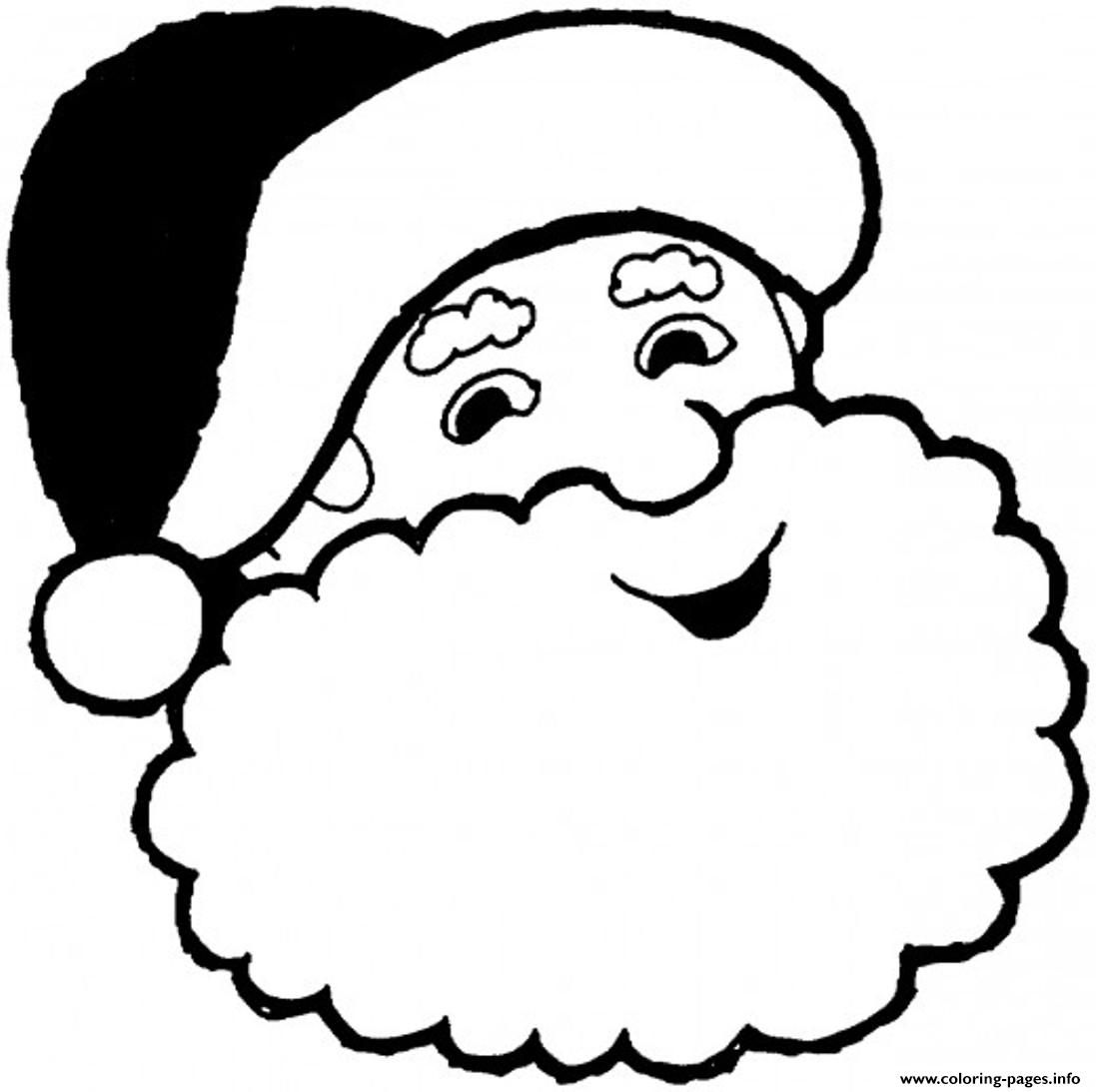 Print Smiling Santa Claus S78d7 Coloring Pages