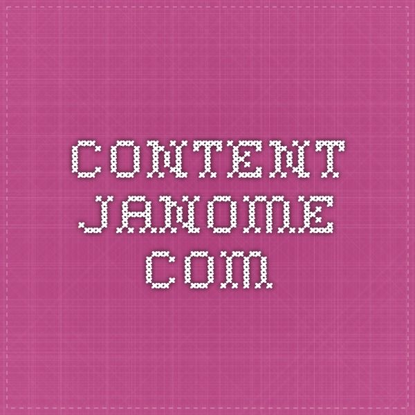 Saumurin käyttöohje.  content.janome.com