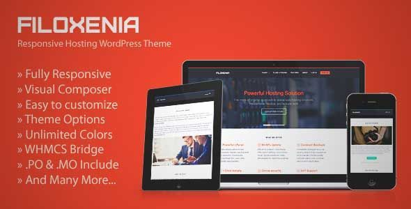 Download and review of Filoxenia - WordPress Hosting Theme + WHMCS ...