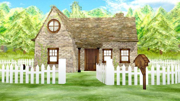 配布 小さな家 Ver1 Cloud9 さんのイラスト 小さな家 家 イラスト