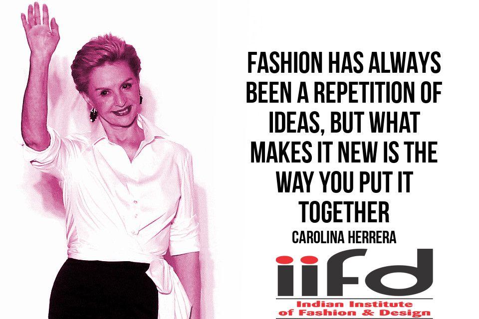 #Fashion #Quotes #Degree in #Fashion #Design #iifd iifd.in/