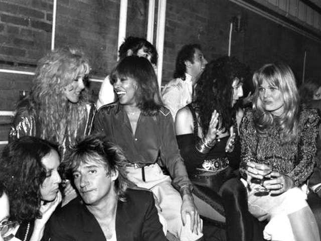 Rod Stewart and all the glitterati inside Studio 54.