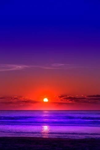 'Netherlands, Holland, Beach on the West Frisian Island of Texel, North Holland, Sunset' Photographic Print - Beate Margraf | Art.com