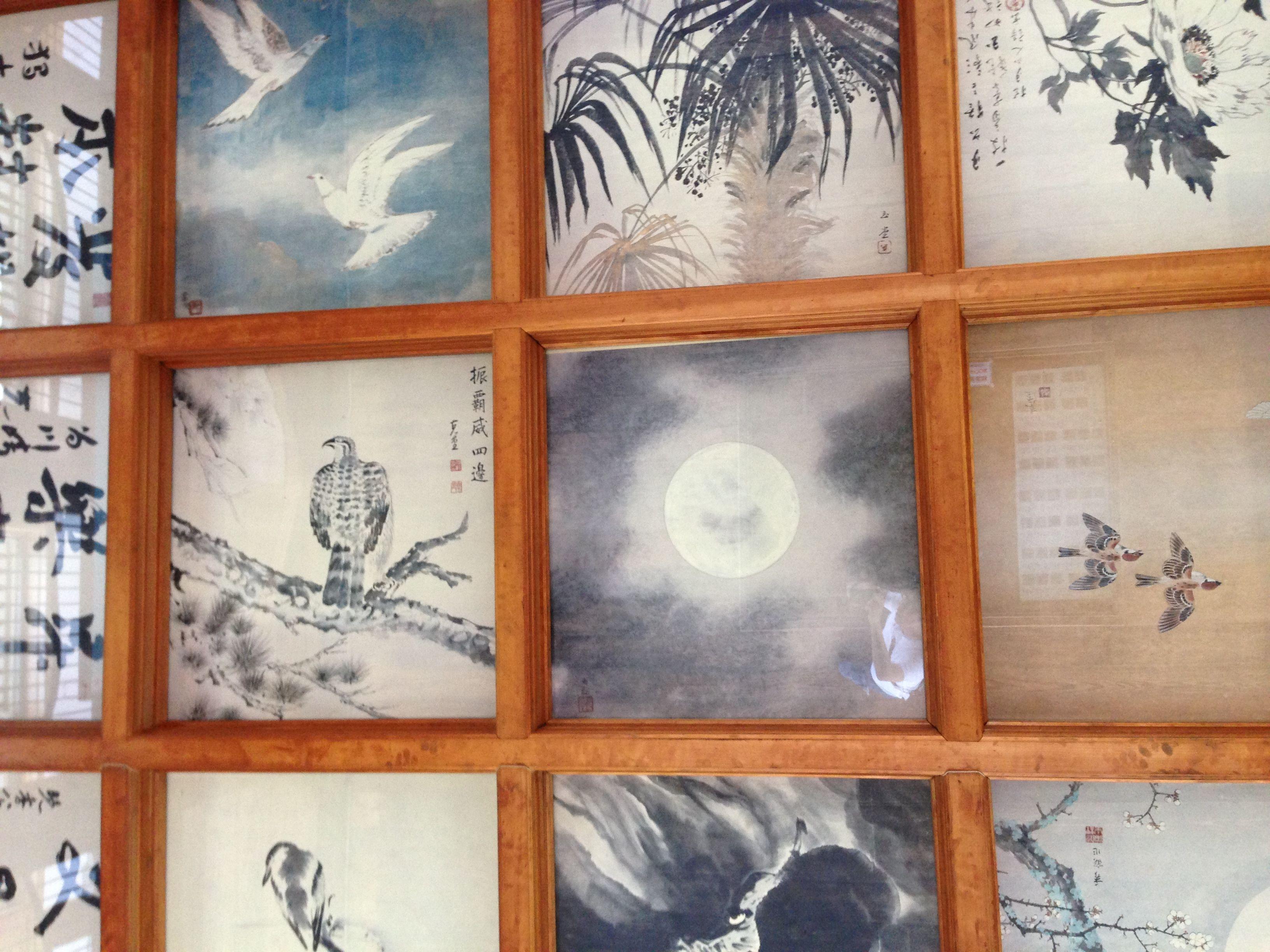 伊賀上野城の最上階の天井の絵 横山大観 天井 絵 横山