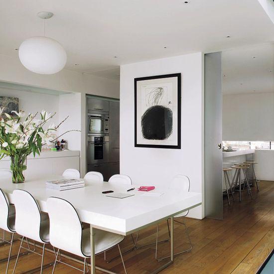 soggiorno e cucina in un unico ambiente? Come Dividere Cucina E Soggiorno Arredamento E Design Modern Kitchen Diner Kitchen Diner House Interior