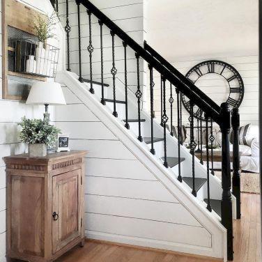 Best 80 Modern Farmhouse Staircase Decor Ideas 25 Farmhouse 400 x 300
