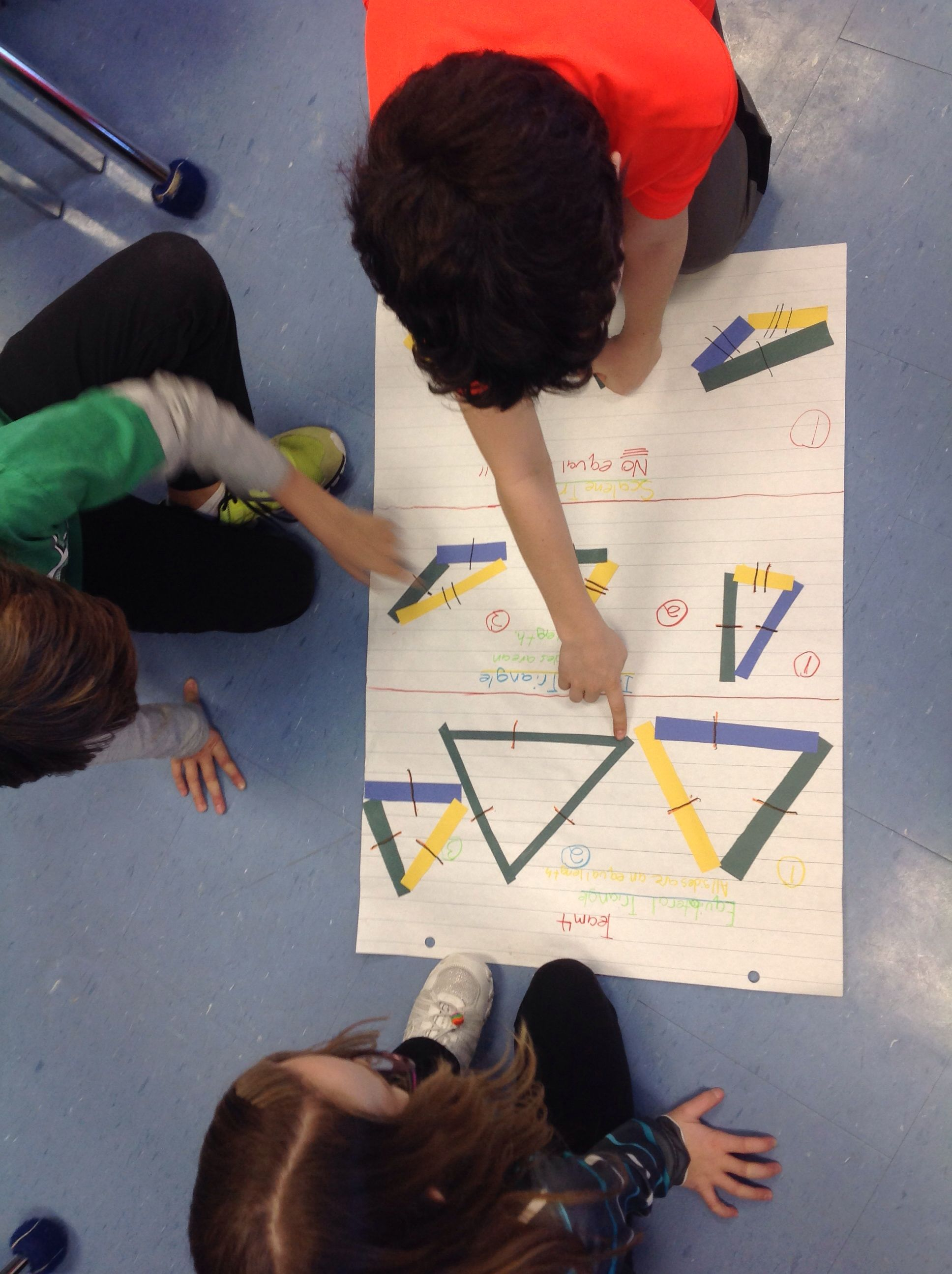 Grade 5 Students Use Collaboration Skills While