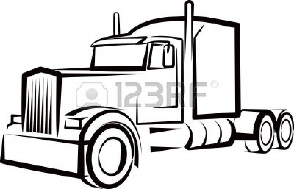 Outline Of Semi Truck