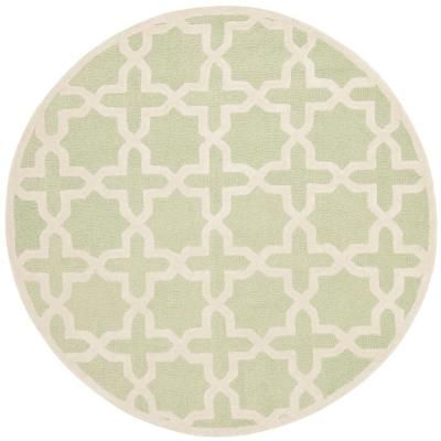 Safavieh Cambridge Light Green/Ivory 6 ft. x 6 ft. Round Area Rug - CAM125B-6R at The Home Depot