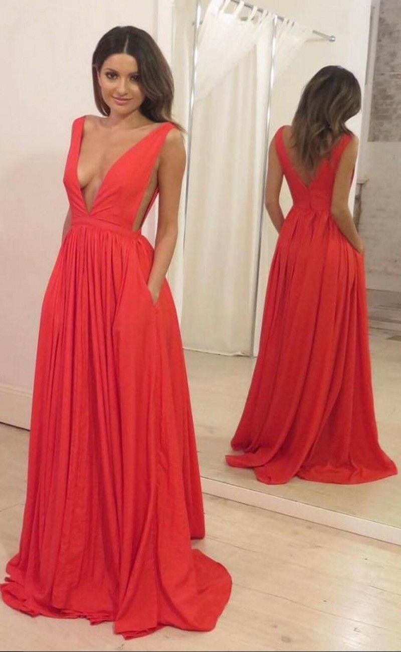 Orange red prom dress party dresses pinterest prom dresses