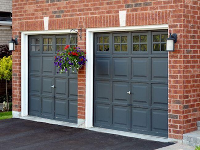 Black Garage Door Red Brick Design Ideas And