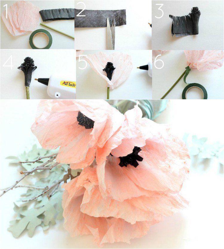 Quand toutes les étapes sont illustrées en photos, fabriquer une fleur en papier est super facile ! Des roses, des dahlias et des glycines décoreront votre