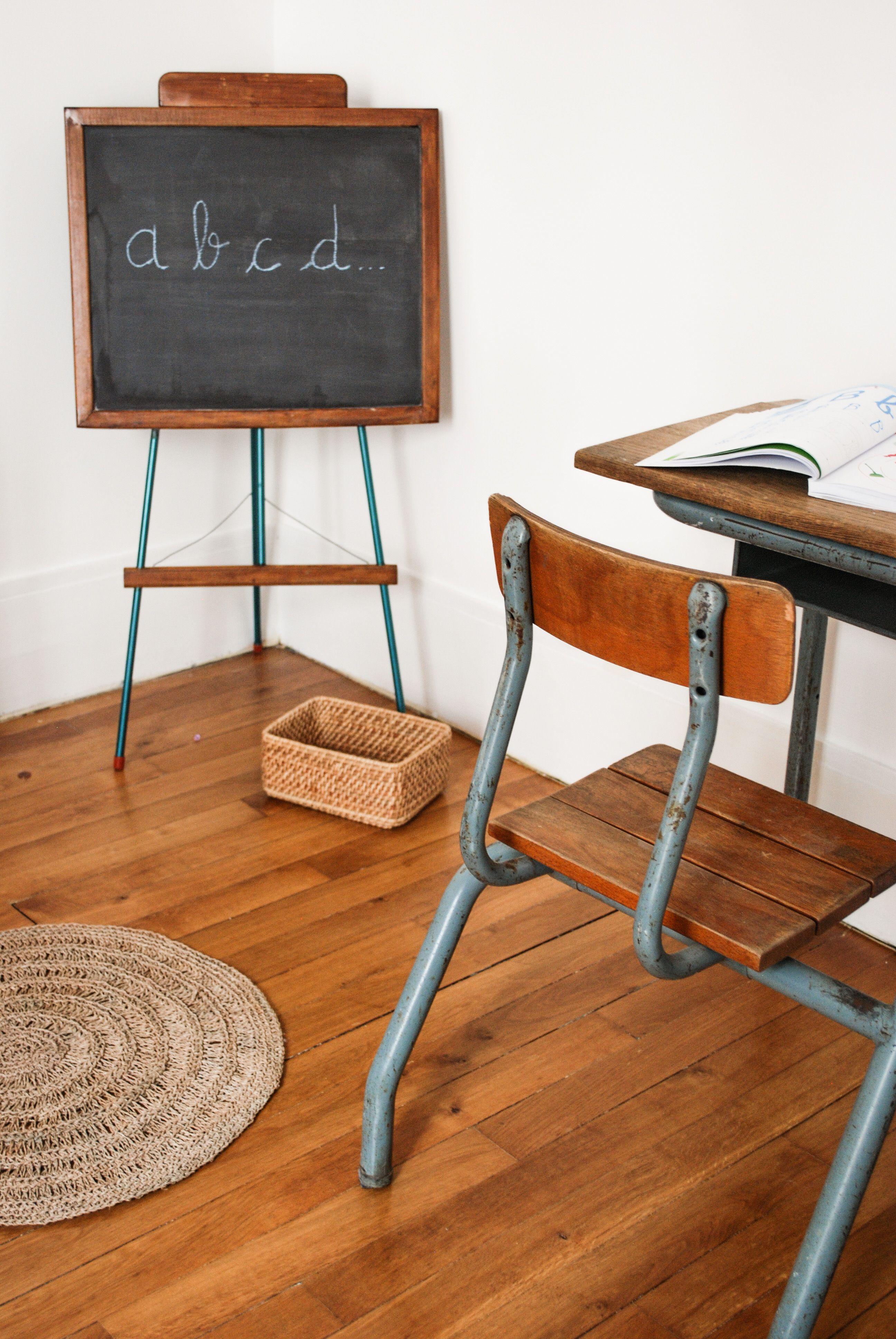 Tableau D Ecolier Vintage Mes Petites Puces Mobilier De Salon Meuble Vintage Decoration Maison