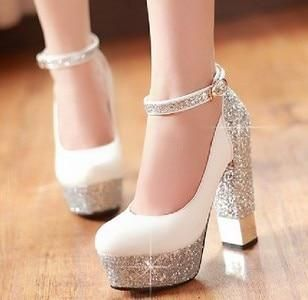 thick bridal High Heel