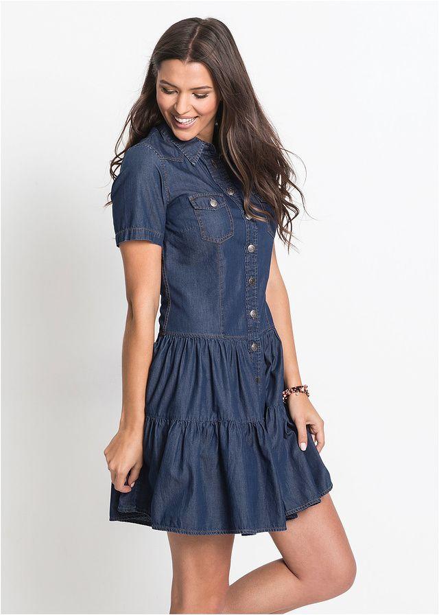 2a825d58f6d6 Džínsové šaty na gombičky