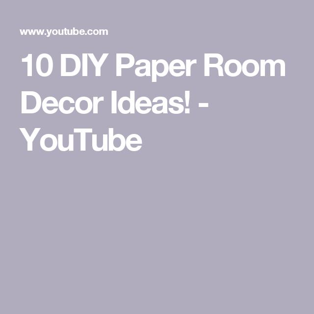 10 diy paper room decor ideas youtube room decor ideas