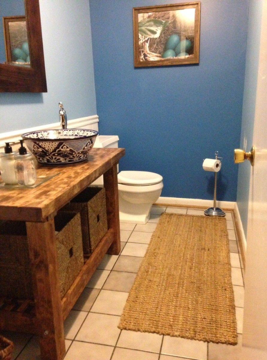 Kitchen cart turned bathroom vanity - IKEA Hackers | Schöner Wohnen ...