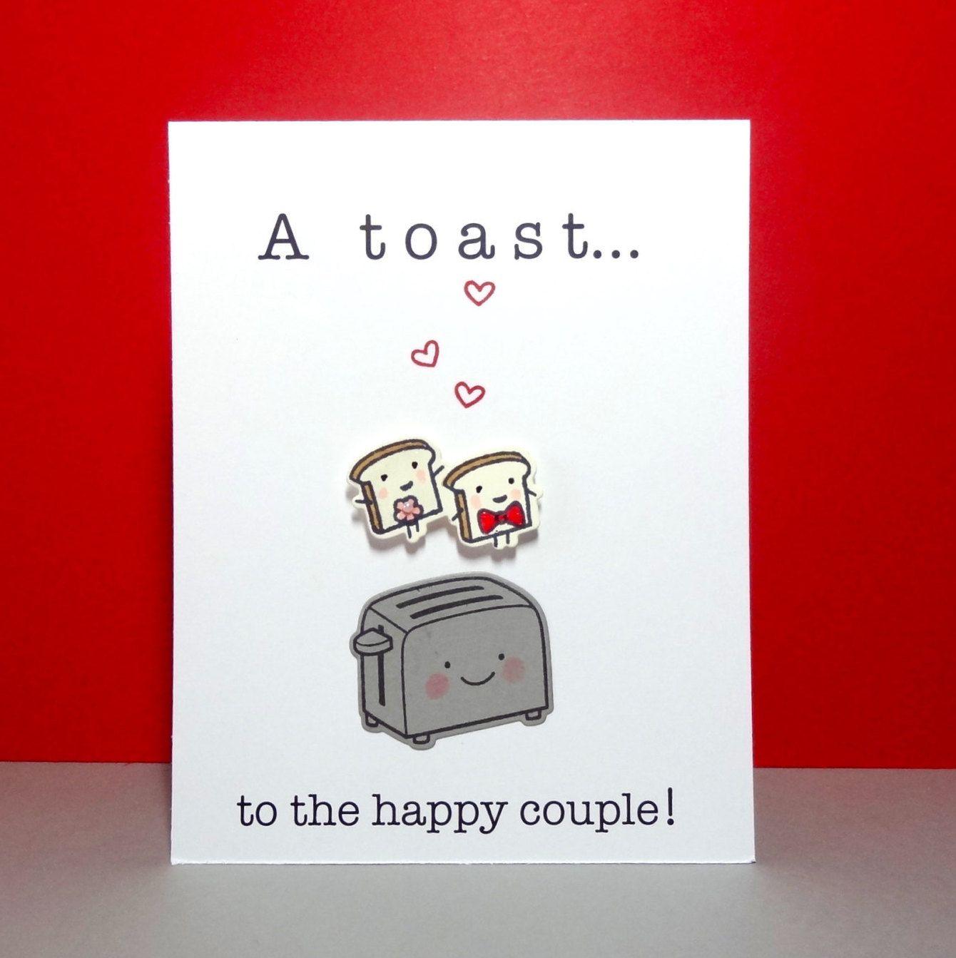 Wedding card engagement card funny wedding card congratulations