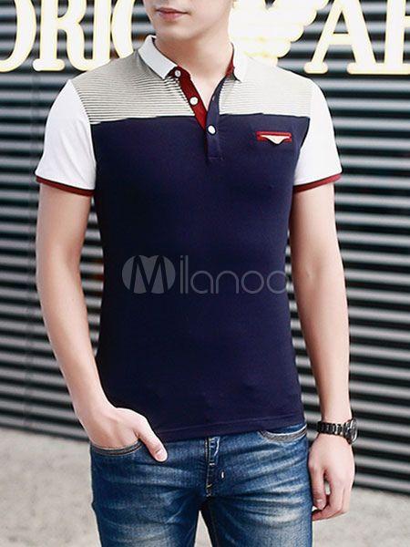 Camisa Polo elegante camisa los hombres con falso bolsillo  c325e22fd21d2