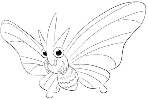 Click To See Printable Version Of Venomoth Coloring Page