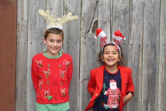 Nordic Santa & Reindeer  Vintage Children's Ugly by UglyXmas, $24.99