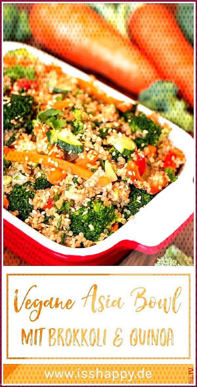 Schnelle asiatische Brokkoli Pfanne mit Quinoa vegan gesund 038 lecker Schnelle asiatische Brokkoli