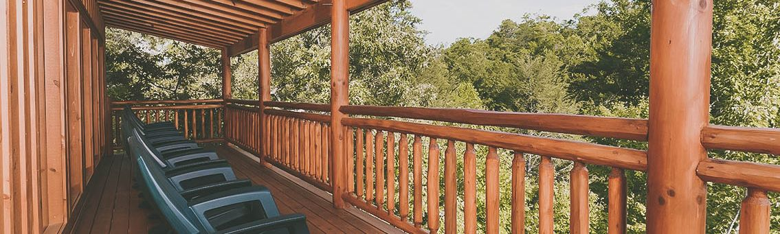 And we all sat on the porch to watch the sun set on the mountains. | Featured Cabin: Keaton's Kabin
