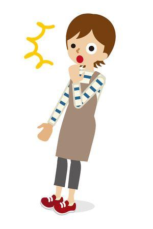 Surprised Mom Stock Vector Illustration Cartoon Grandma Vector Illustration Mom Clipart