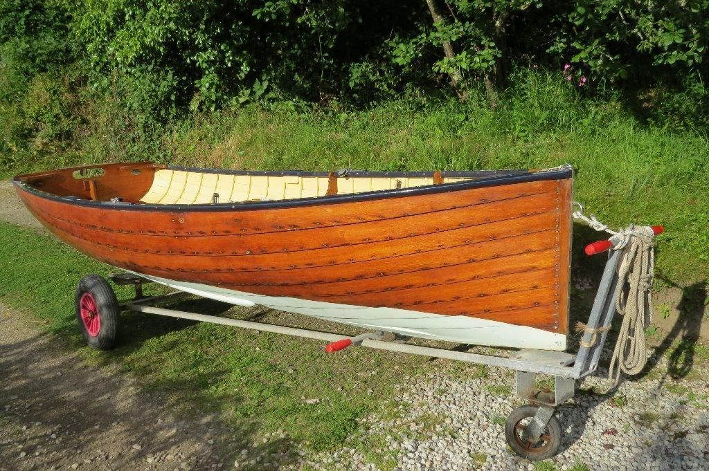 Classic 12 Mahogany Sailing Dinghy This Beautiful Is A Helford Delta