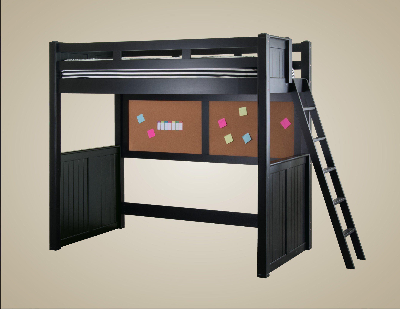 College loft bed ideas  JAY BLK Kids Full Loft Bed Black White Walnut Dark Pecan Color