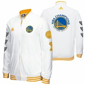 d798d28c7fd Golden State Warriors adidas Trophy Ring Banner On-Court Jacket - White