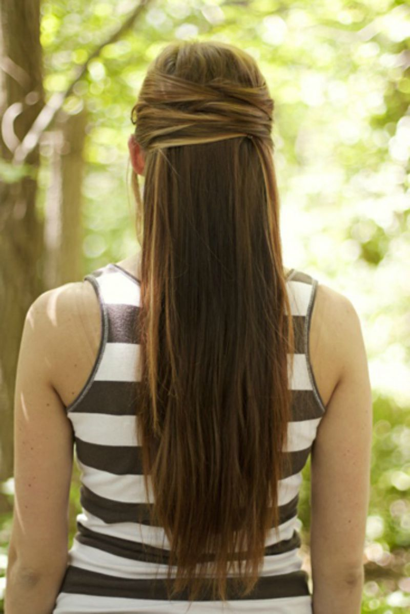 cute half up hairstyles for long straight hair - 21 gorgeous half