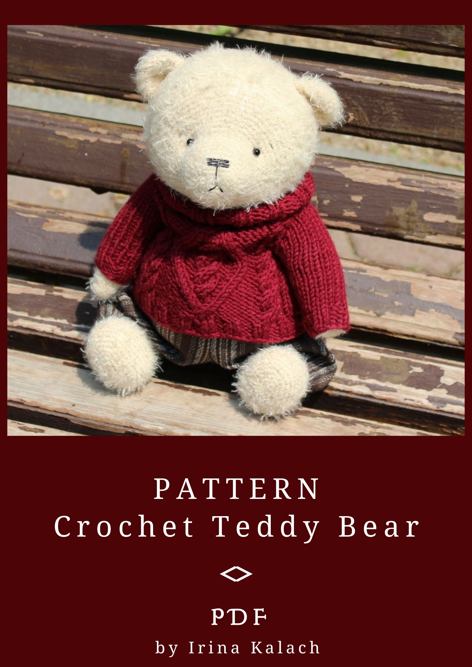 Teddy Bear Sweater knitted with Stockinette stitch- [ EASY Pattern ... | 2246x1588