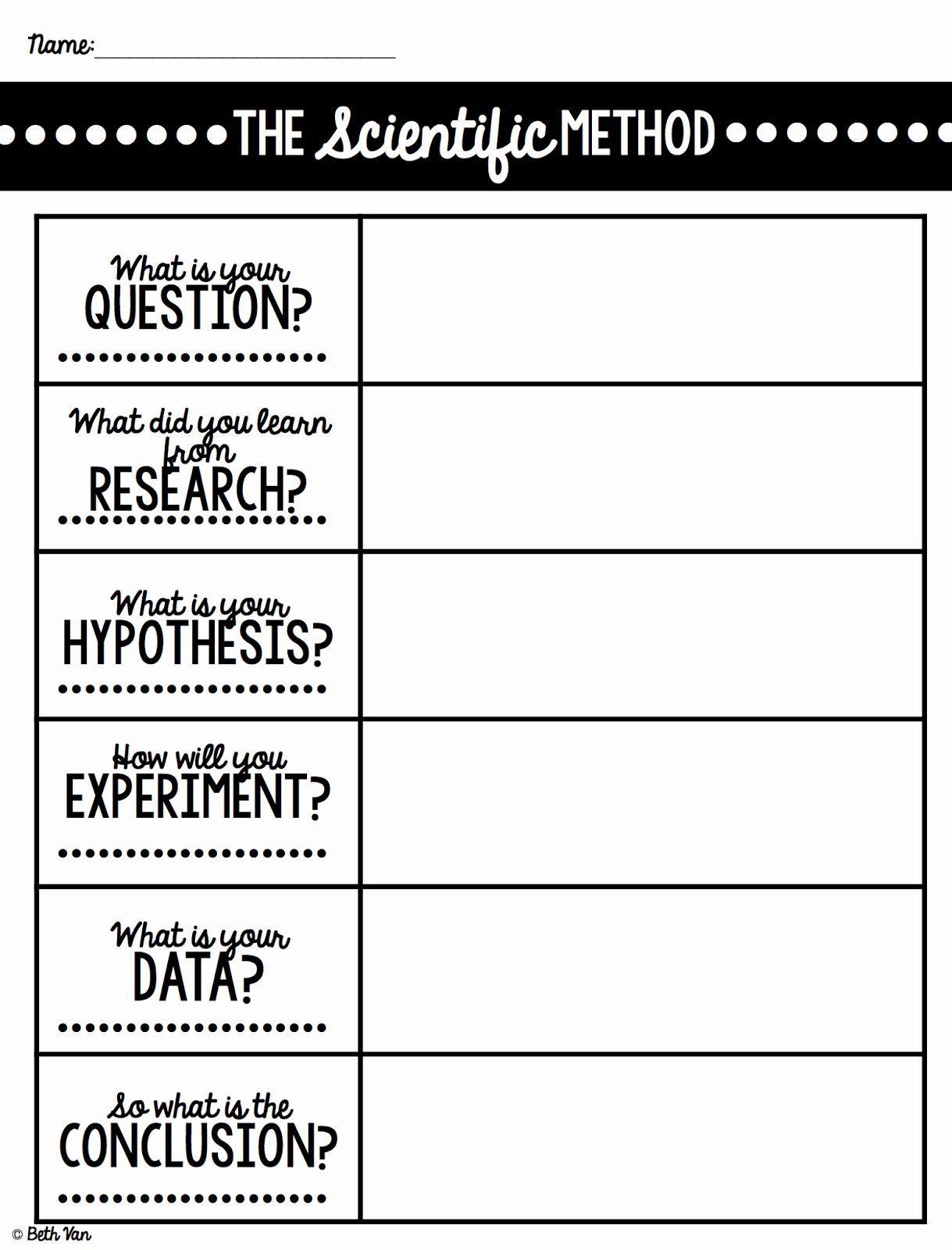 Scientific Method Steps Worksheet Beautiful