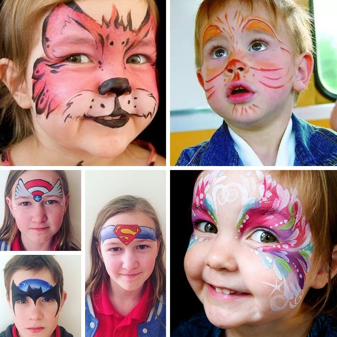 Face Painting Kit For Kid Include 108 Stencil 6 Brushes