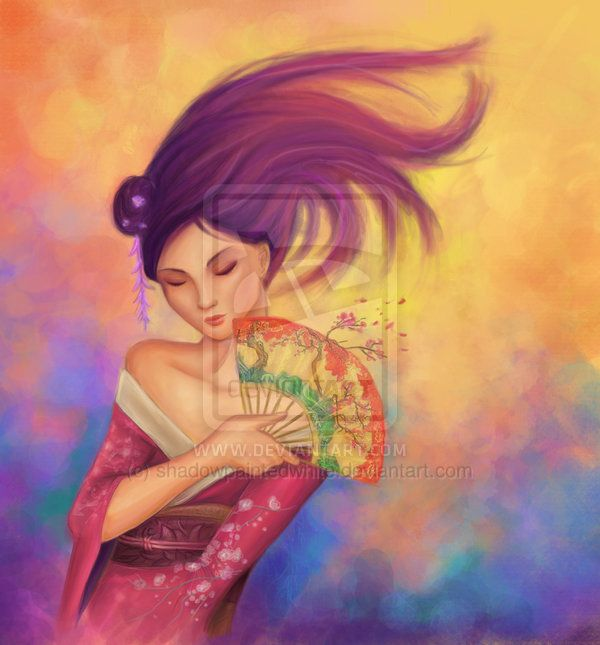 Geisha by ~shadowpaintedwhite(deviantart)
