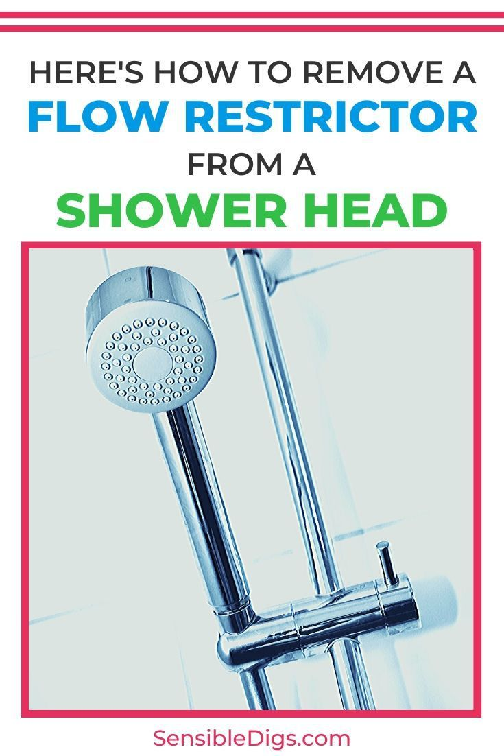 Heres hot to remove a flow restrictor from a shower head