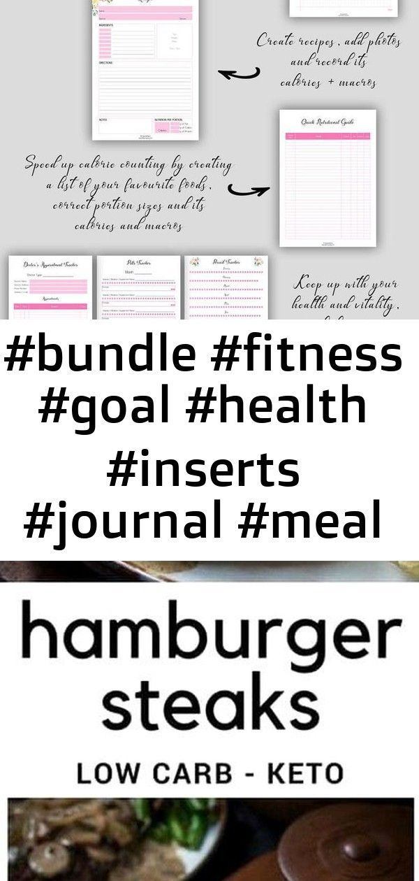 #achieve #Bundle #fitness #goal #health #Inserts #Journal #meal #pink #Planner #planning #Tracker #B...