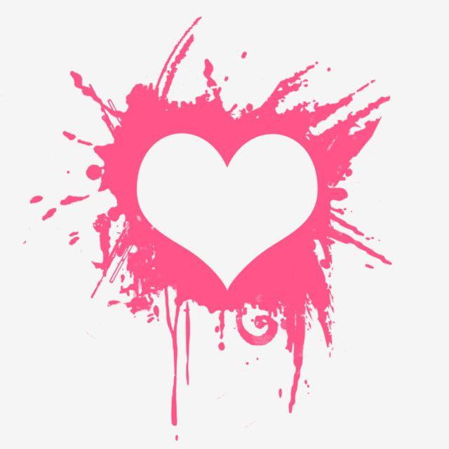 القلب مع تأثير الطلاء الوردي زهري نبذة مختصرة أزرق Png وملف Psd للتحميل مجانا Coracoes Cor De Rosa Ilustracao De Coracao Coracao Aquarela